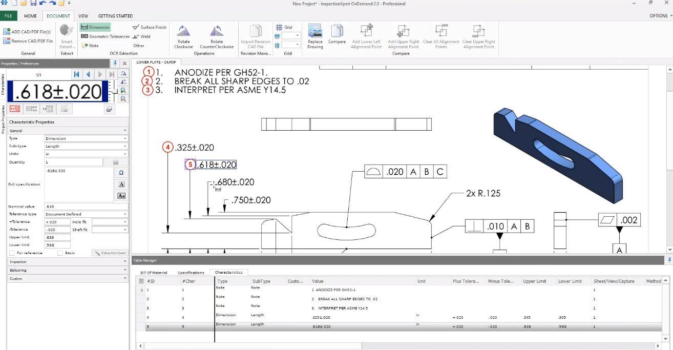 Screenshot of InspectionXpert Software